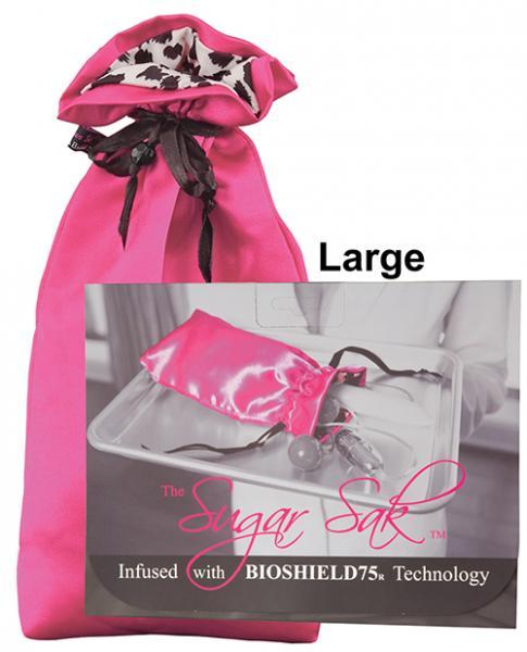 Sugar Sak Anti-Bacterial Toy Bag Large Pink