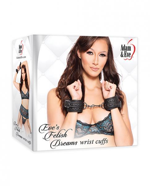 Adam & Eve's Fetish Dreams Wrist Cuffs - Black