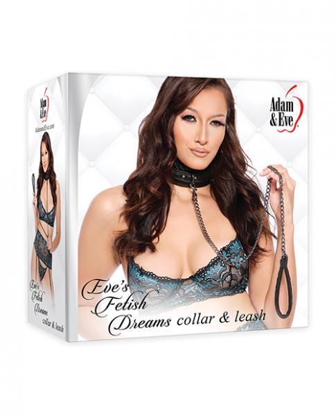 Adam & Eve's Fetish Dreams Collar & Leash - Black