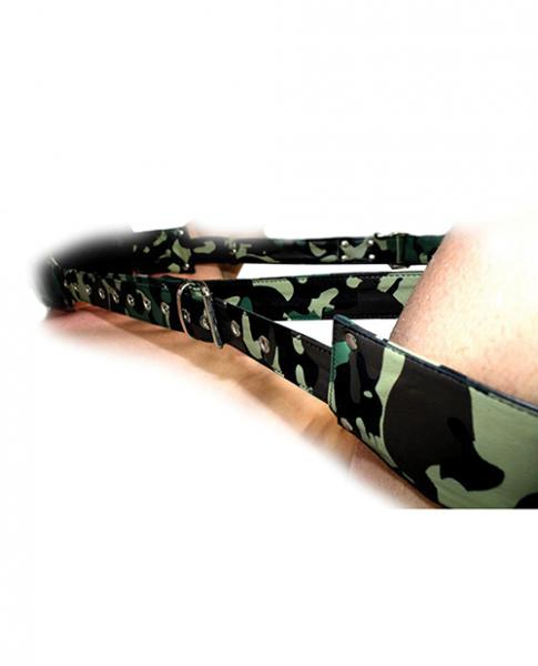 Sensual Sin Leather Adjustable Travel Sling Camo