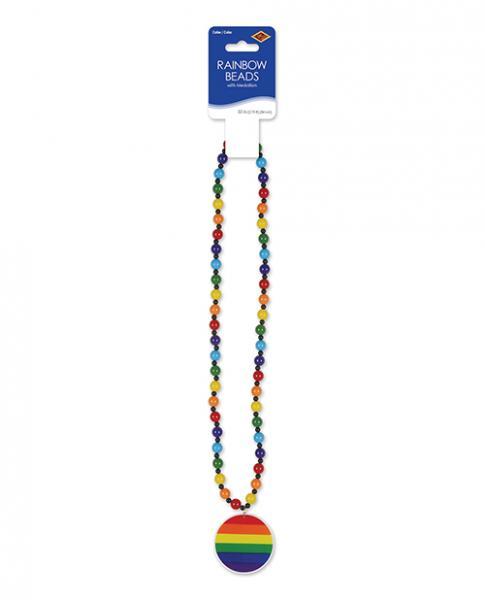 Pride Beads W/medallion - Rainbow