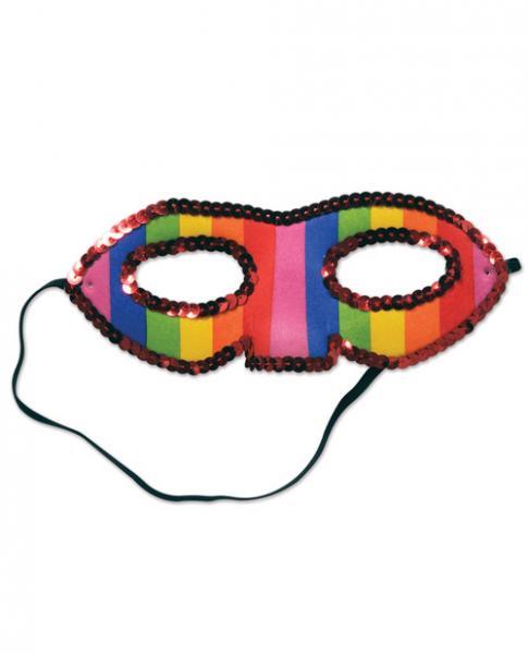 Sequined Rainbow Half Mask
