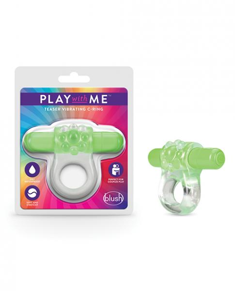 Blush Play With Me Teaser Vibrating C Ring - Green