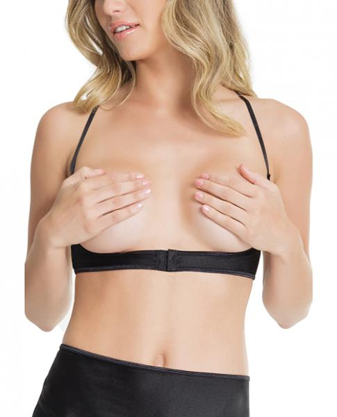 Cupless Underbust Bra W/adjustable T-back (can Be Worn Two Ways) Black O/s