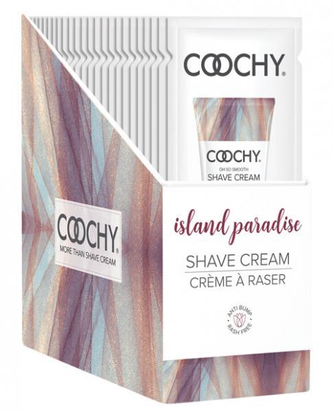 Coochy Shave Cream Display - 15 Ml Island Paradise Display Of 24