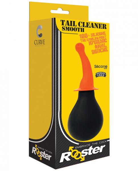 Rooster Tail Cleaner Smooth Orange Anal Douche