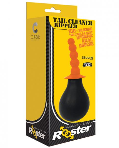 Rooster Tail Cleaner Rippled Orange Anal Douche