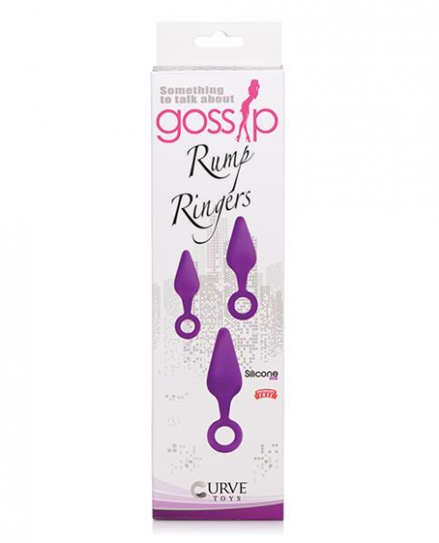 Curve Novelties Gossip Rump Ringers - Violet