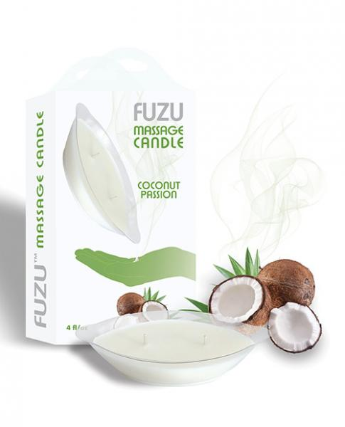 Fuzu Massage Candle Coconut Passion 4oz