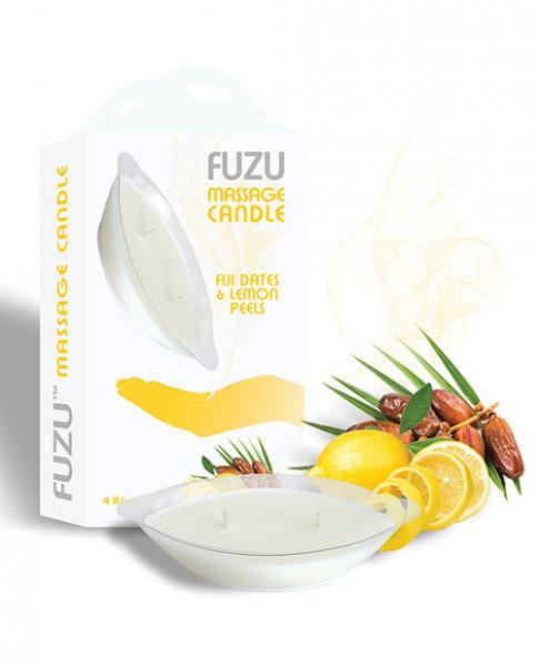 Fuzu Massage Candle - 4 Oz Fiji Dates & Lemon Peel