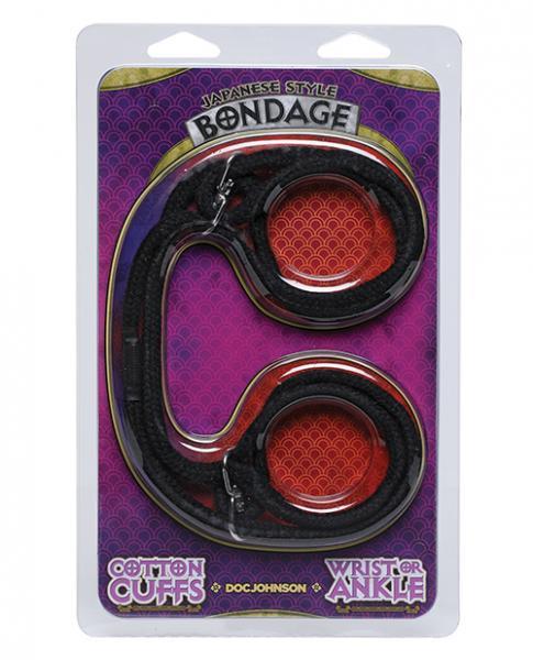Japanese Style Bondage Wrist Or Ankle Cotton Rope Black