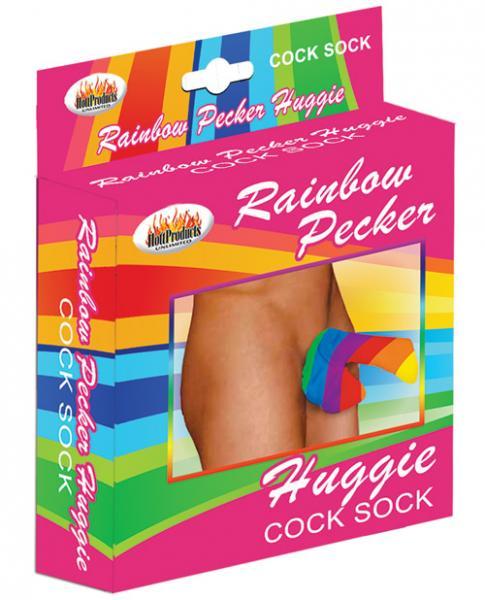 Rainbow Pecker Huggie Sock