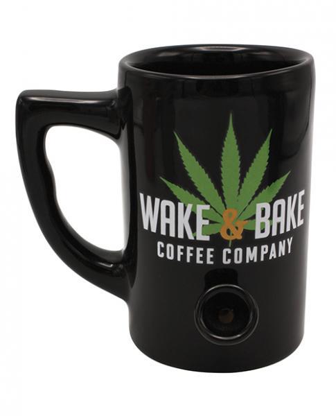 Wake & Bake Coffee Mug Hold 10 ounces Black