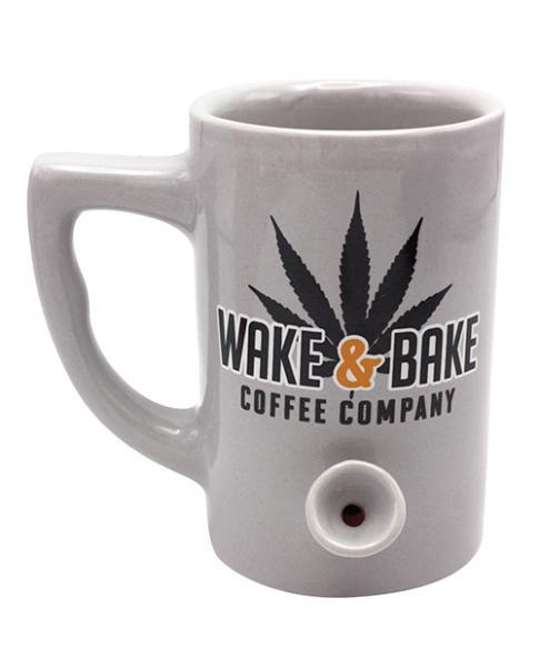 Wake & Bake Coffee Mug Holds 10 ounces Gray