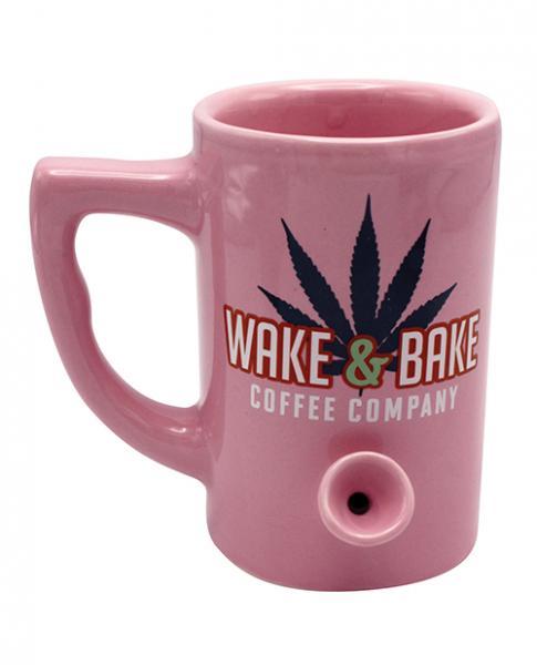 Wake & Bake Coffee Mug Holds 10 ounces Pink
