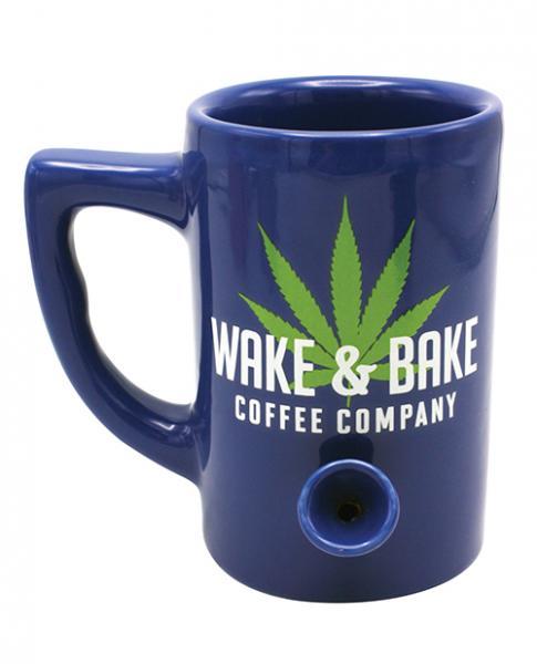 Wake & Bake Coffee Mug Holds 10 ounces Blue