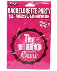 Bachelorette Party Flashing Badge Self Adhesive  The I Do Crew Sex Toy Product