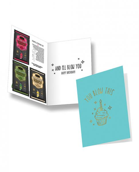 Kama Sutra Naughty Notes Greeting Cards - You Blow This