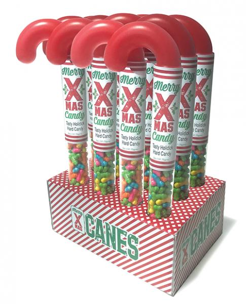 Merry X-Mas Tasty Holidick Candy Canes Display Of 12