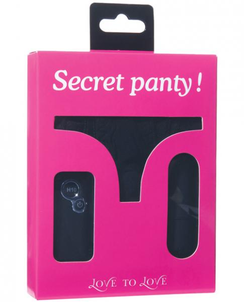 Secret Panty Vibrating Panty Black