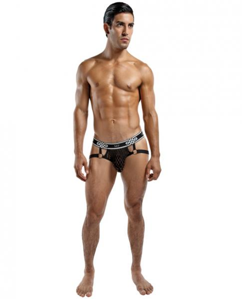 Male Power Peep Show Jock Strap Ring Black L/XL
