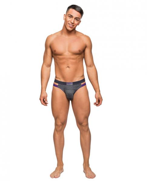 Heather Haze Cutout Jock Strap Gray S/M