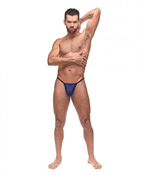 Diamond Mesh Posing Strap Blue O/s