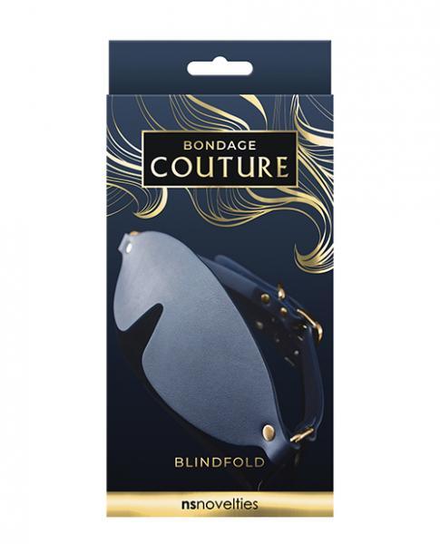 Bondage Couture Vinyl Blind Fold - Blue