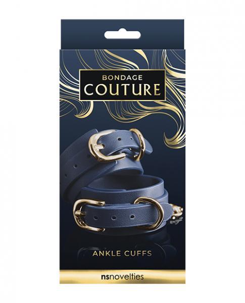 Bondage Couture Vinyl Ankle Cuff - Blue
