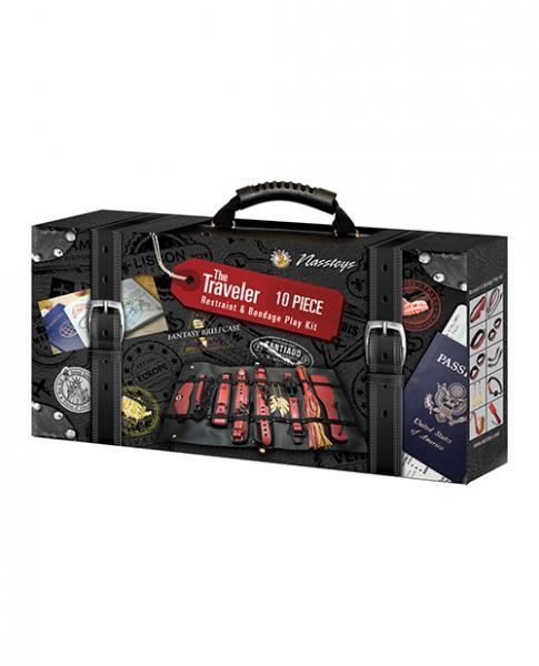 The Ultimate Fantasy Travel Briefcase Restraint & Bondage Play Kit - Burgundy