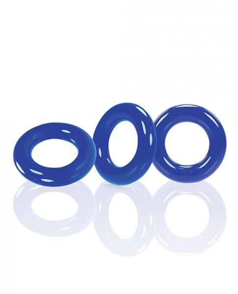 Oxballs Willy Rings - Blue Pack Of 3