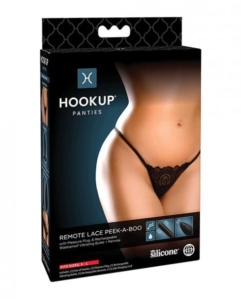 Hookup Panties Remote Lace Peek A Boo Black S-l
