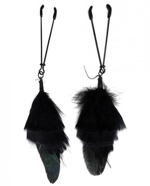 Black Feather Black Tweezer Nipple Clamps