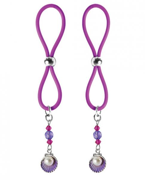 Bijoux De Nip Nipple Halos Clam Charm Purple Body Jewelry