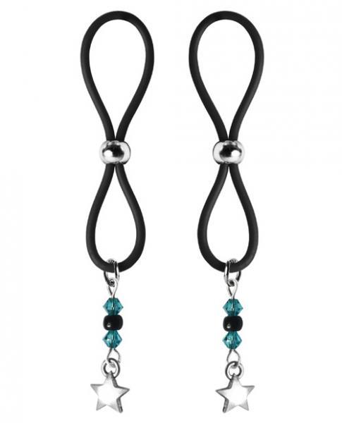 Bijoux De Nip Nipple Halos Star Charm Blue Black