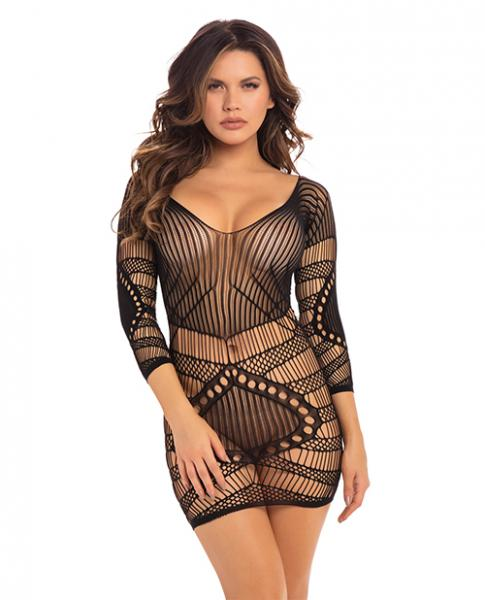 Pink Lipstick Pleasure Craft Net Dress Black M/l