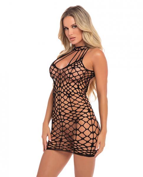 Shreds Of Decency Mini Dress Black O/S