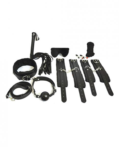 Everything Bondage 12 Piece Kit - Black