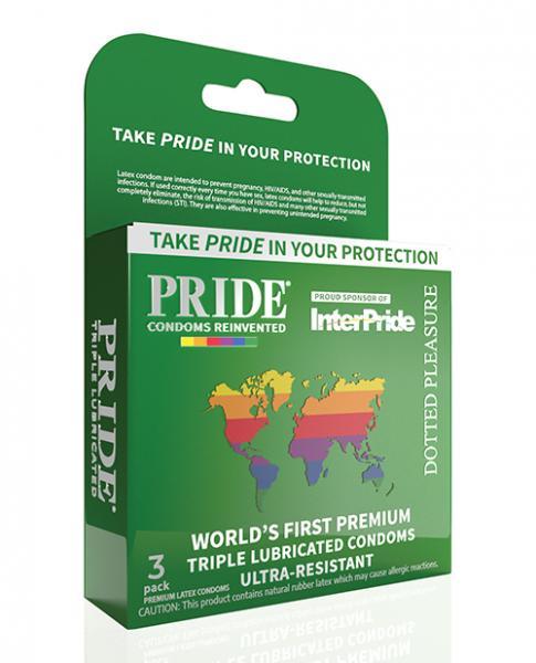 Pride Dotted Pleasure Latex Condoms Pack Of 3