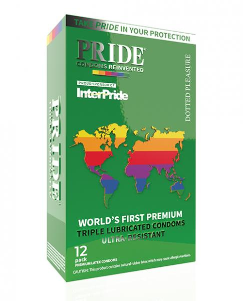 Pride Dotted Pleasure Latex Condoms Pack Of 12