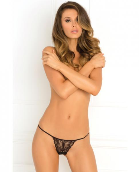 Got Your Back Crotchless Thong Black M/L