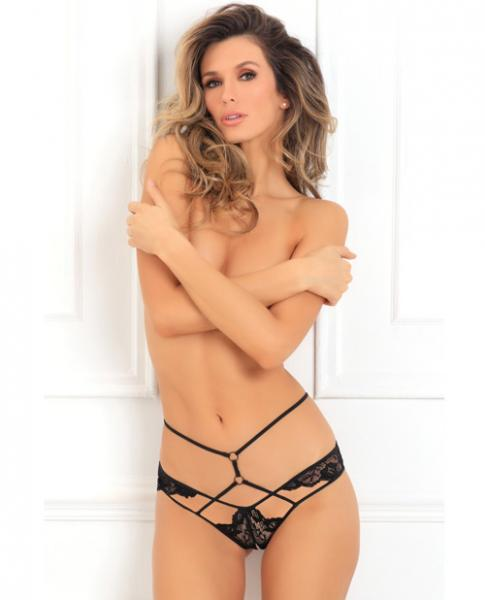 Own It Crotchless Panty Black S/M