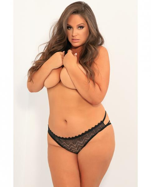 Rene Rofe No Restrictions Crotchless Panty Black 3X/4X