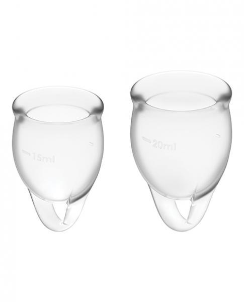 Satisfyer Feel Confident Menstrual Cup - Transparent