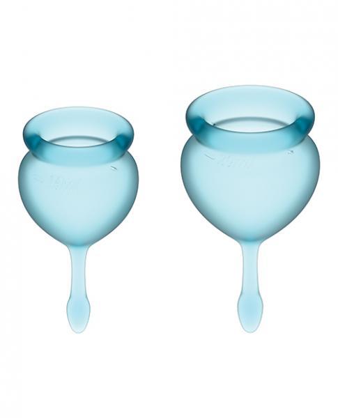 Satisfyer Feel Good Menstrual Cup - Light Blue