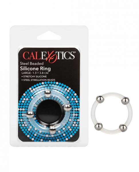 Steel Beaded Silicone Ring - Large