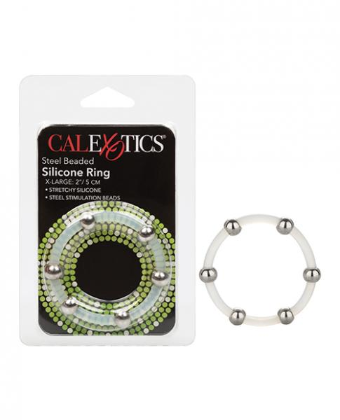 Steel Beaded Silicone Ring - X Large