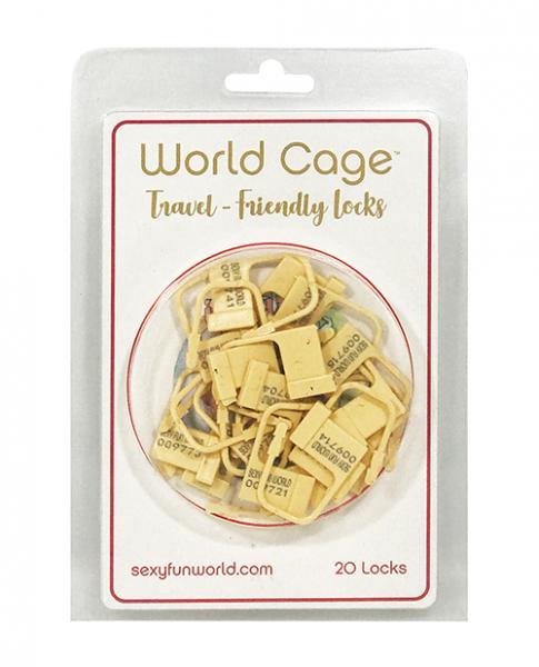 World Cage Travel Friendly Locks - 20 Pack Plastic Locks