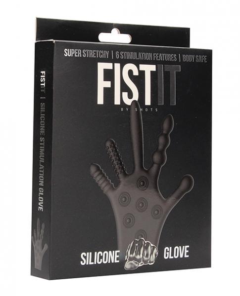 Shots Fistit Silicone Stimulation Glove - Black