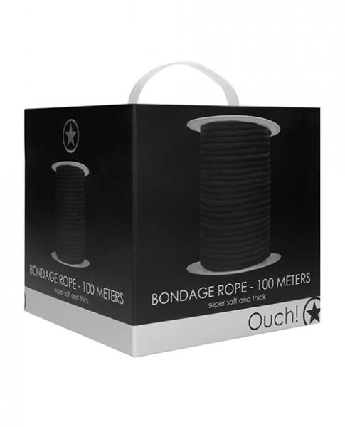 Shots Ouch Bondage Rope - 100 Meters - Black